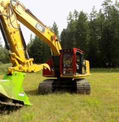 CAT323 NEW GEN with a RDM52EX Forestry Mulcher