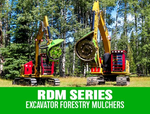 RDM Series Excavator Forestry Disc Mulchers